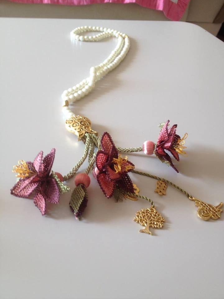 iğne oyası tesbih ucu çiçekleri | iğneoyası sevdalıları