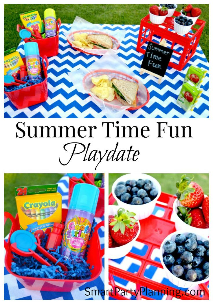 Summer Time Fun means pool parties and backyard play dates.  Kids love it!  Add to the excitement and set up a special play date lunch for them.  It's really easy to do!