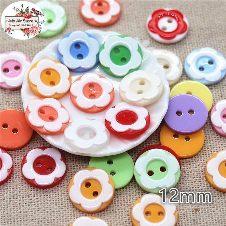 100pcs 12mm Mixed color flower plastic button baby sewing button decoration sewing craft scrapbook accessories wholesale-in Buttons from Home & Garden on Aliexpress.com | Alibaba Group