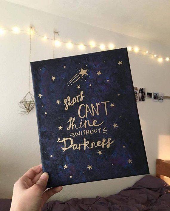 Galaxy Quote Canvas Art Quotes Diy