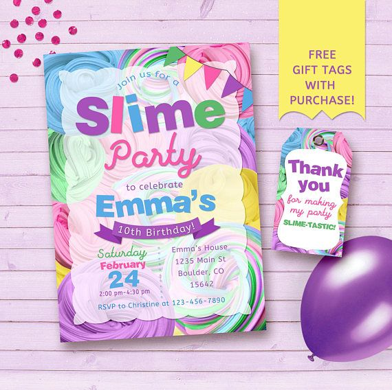 Slime Party Printables Slime Invitation Slime Birthday Etsy Slime Party Slime Birthday Birthday Party Invitations