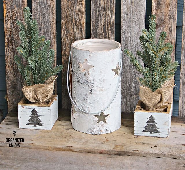 Diy Michael S White Washed Christmas Wood Box Decorations Wood Box Decor Stencil Crafts Christmas Wood