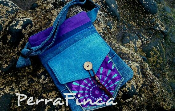 Upcycled jeans&fabric hipbag