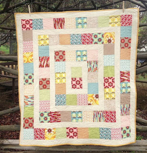 Two Little Banshees: Cot Quilts Do rectangles (double squares) instead quilts Pinterest ...