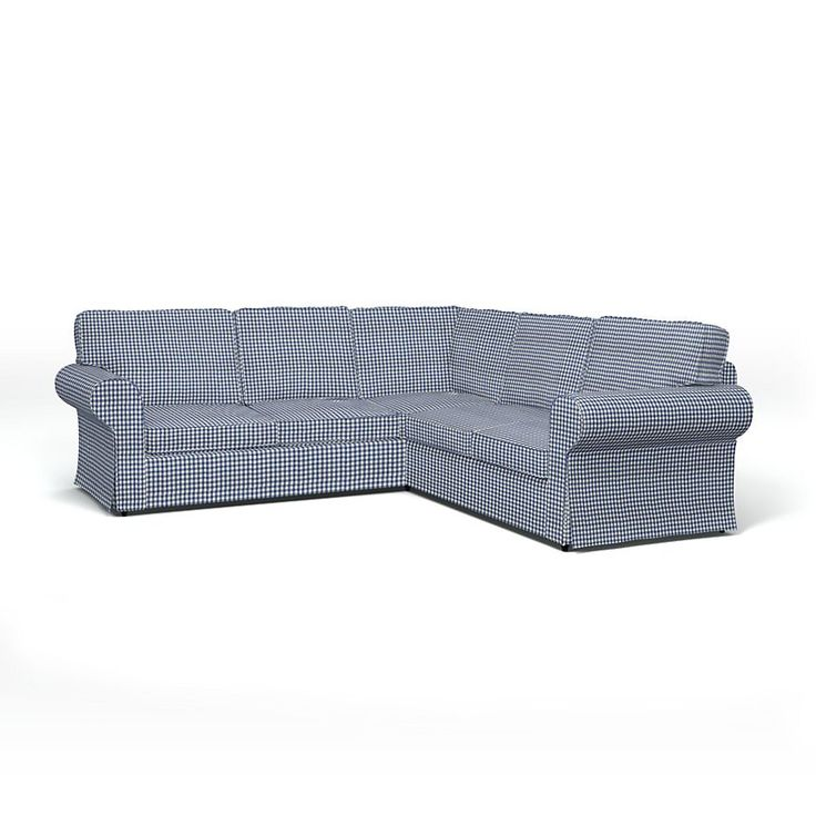 Stocksund , Sofa Covers, 3 Seater, Regular Fit using the fabric Panama Cotton Steel Blue