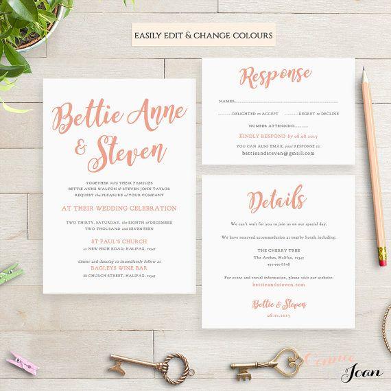 Wedding Invitations Details: 1000+ Ideas About Invitation Templates On Pinterest