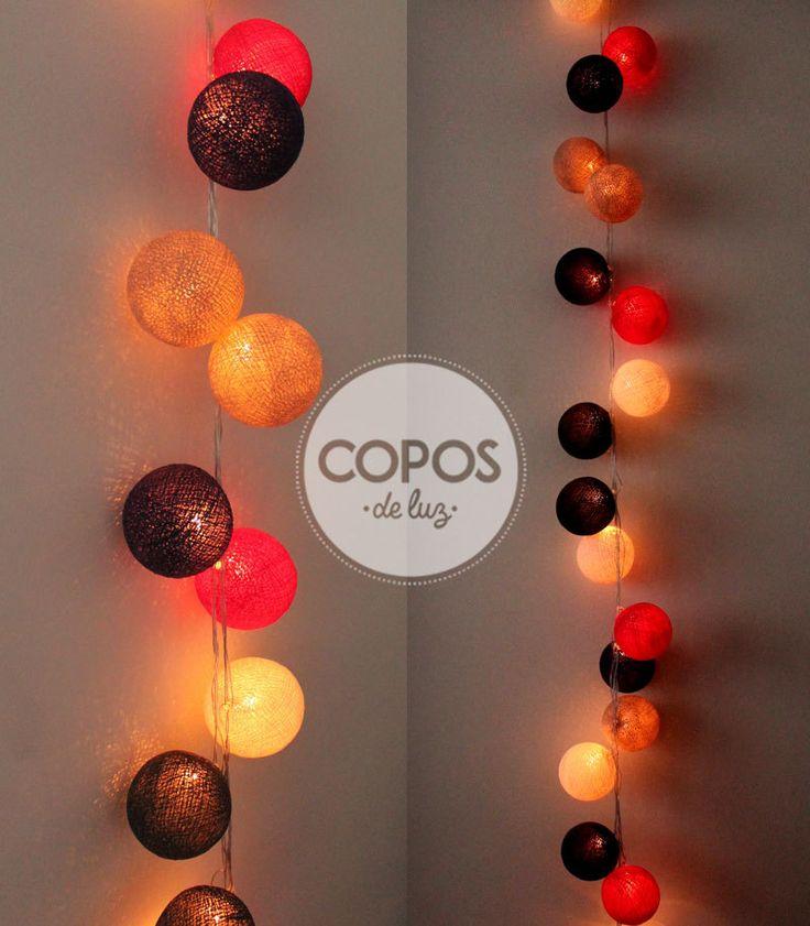 Guirnalda paris bolas de hilo y luz artesanales for Guirnalda de luces bolas