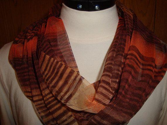 Super Sheer Infinity scarf by ReeReesSewandSews on Etsy