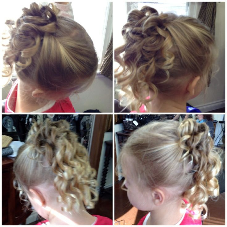 Flower girl updo www.HairByGiovanna.com