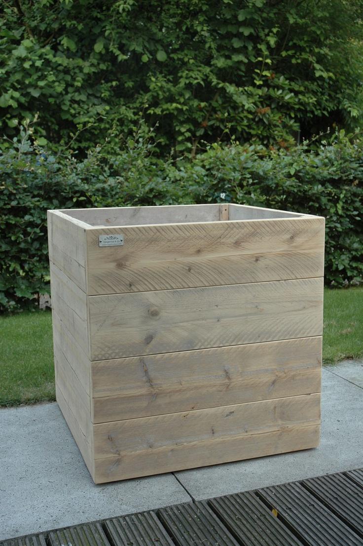 Bloembak steigerhout. Vervaardigd door www.steigerhoutenzo.com