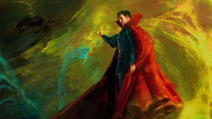 Le Doctor Strange Benedict Cumberbatch dévoile son look sur un concept art - News films Vu sur le web - AlloCiné