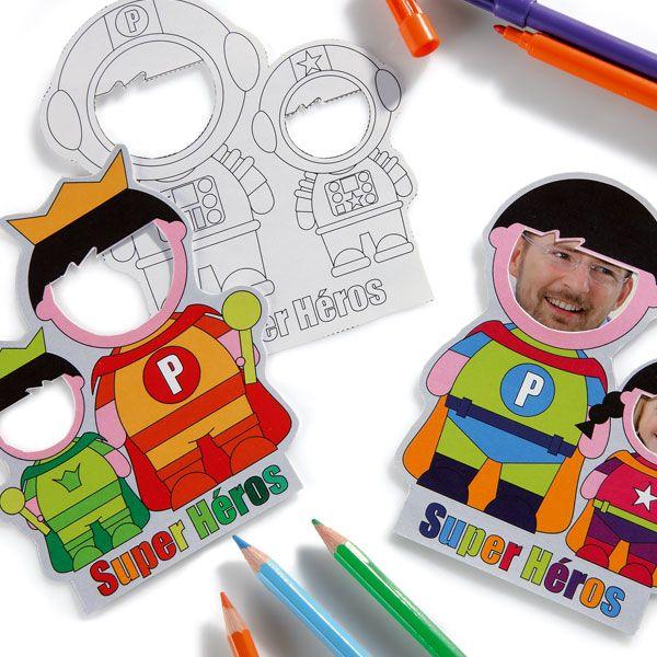 Magnets super héros à personnaliser avec des photos pour la fête des pères avec Wesco Family