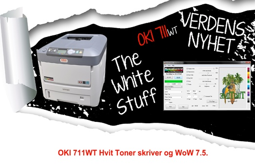 Verdensnyhet OKI C711WT    http://www.themagictouch.no