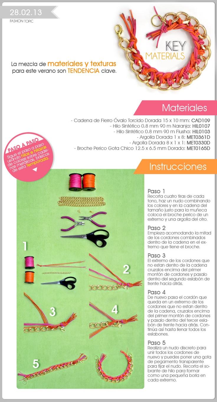 Mejores 112 im genes de como hacer collares en pinterest for Proveedores de material para bisuteria