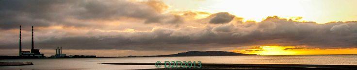 A Dublin Sunrise. Photographed from Sandymount Strand Dublin