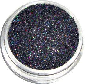 Negro Holográfica Glitter Consejo Decoración DIY del Clavo Del Polvo Del Polvo de Uñas de Moda Herramientas de Uñas de Gel UV, 5g jar. envío gratis