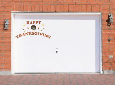 Thanksgiving Garage Magnet Door Decals Decorations Fall