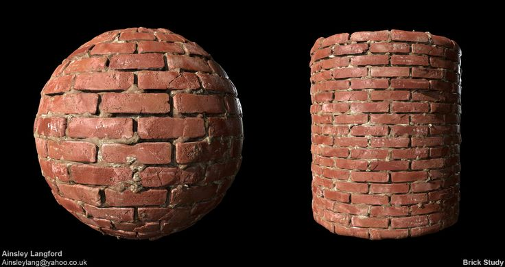 Brick Study, Ainsley Langford on ArtStation at https://www.artstation.com/artwork/ZJQz0