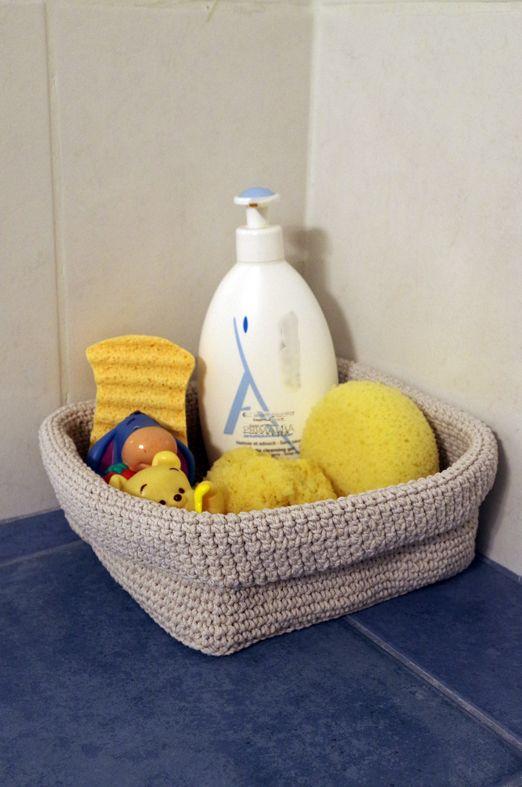 crochet basket by plektologio