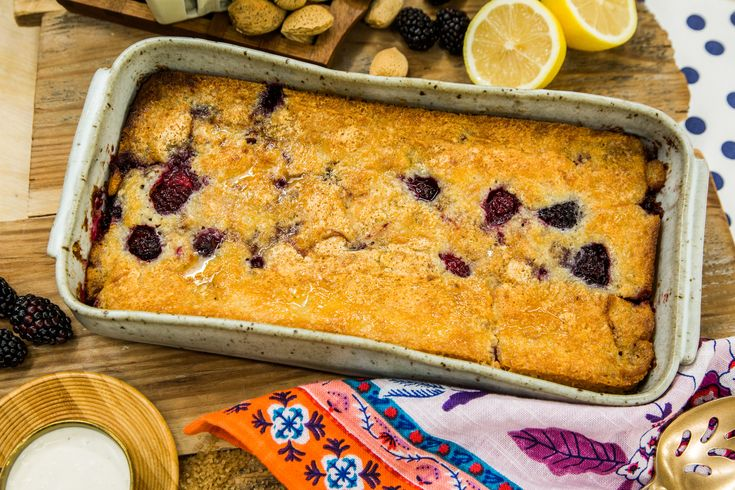 A warm and delicious Blueberry Cobbler perfect for your holiday parties! For more great recipes tune in to Home & Family weekdays at 10a/9c on Hallmark Channel!