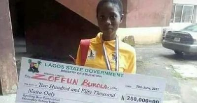 The 16-year-old female student who won this year's Spelling Bee competition is to be a governor of Lagos State for one day. Bukola Zoffun of the Awodi-Ora Secondary School Ajegunle also won the sum of N250000.  The competition organised by the state Ministry of Education which began since 2001 has the tradition of giving winners a chance to act in the capacity of the governor of the state for one day.  Speaking to reporters Bukola said: I have put in my best effort to have been selected at…