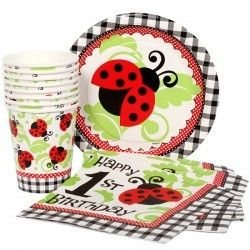 Ladybug 1st Birthday Munch Pack for 8