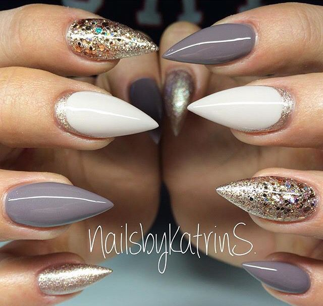 I love when a client does every nail different but same mood!