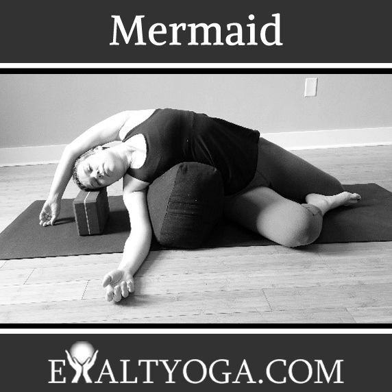 Yin Yoga S Mermaid Pose Is An Excellent Shoulder And Side Body Opener This Pose In 2020 Yin Yoga Poses Yin Yoga Restorative Yoga Poses
