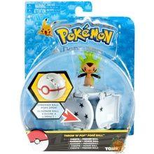 Pokemon Toy Throw 'N' Pop Pokeball with Figure - Chespin & Premier Ball