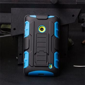 Armor Impact Holster Hard Case For Microsoft Nokia Lumia 520 525 630 635 640 640XL 929 930 950 Outdoor Sports Cover Shell Bags