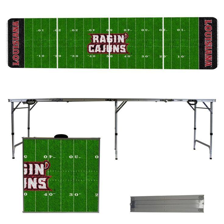 Louisiana Lafayette Ragin' Cajuns Football Field Folding Table