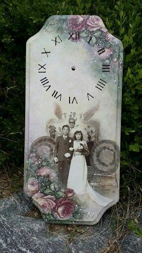 웨딩사진을 파스텔 연장채색으로 만든 시계
