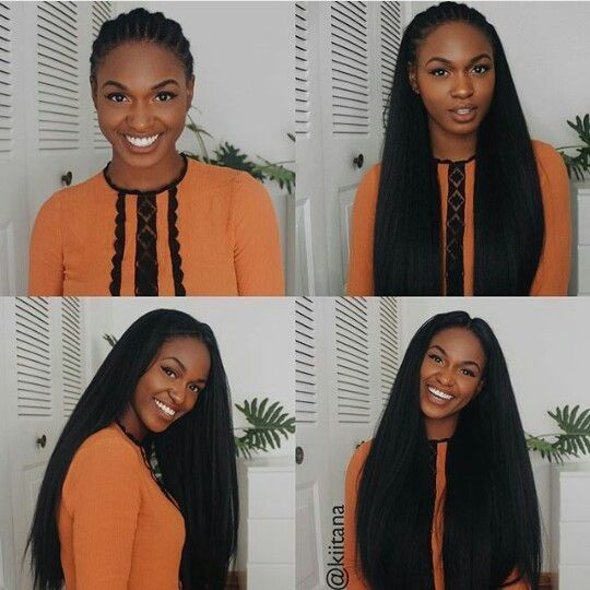 How To: Knotless Crochet Braids with Straight Hair  – Crochet Braid Concepts and Tu…