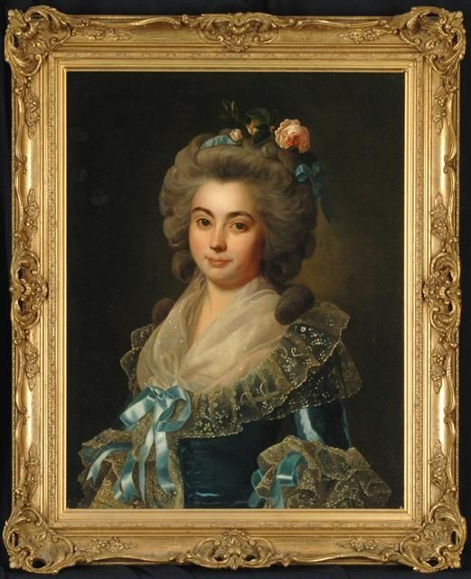 """""""Portrait of an Elegant Lady"""" SOLD Manner of Marie Louise Ėlisabeth Vigée Le Brun (French, 1755-1842) 28"""" x 22"""", oil on canvas."""
