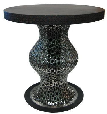 Table with Carving Brass Ref 007A