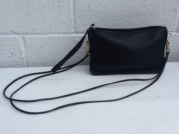 b36d3263b0ac Simple Vintage Coach Black Crossbody Bag Made in USA