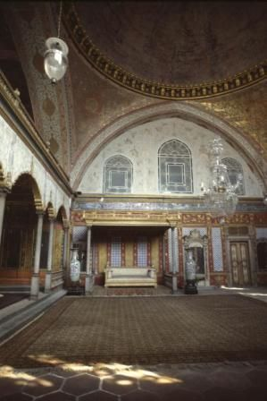 The Topkapi Palace Museum, Haren Room, Sultanahmet, Eminönü, Istanbul, TURKEY  Tel : +90 212 512 0480  Hours: 9:00 am - 5:00 pm. (During tourist season, calling ahead is recommended due to busy schedule) Topkapi Palace is closed on Tuesdays. Harem section can be visited only by a guided tour and tickets should be purchased separately.