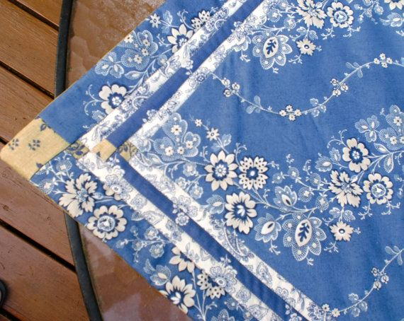 Table Runner  KIT from 3 fabrics in the Blue by StacksOfStash, $15.00