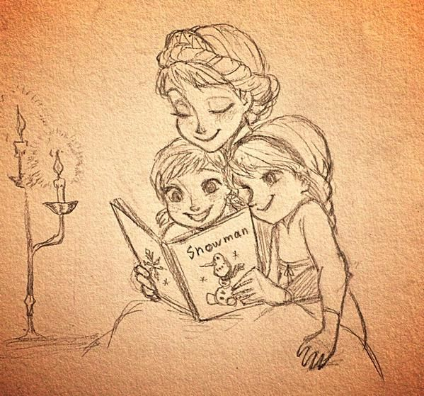 esa sketches frozen anna and sisters - photo #3