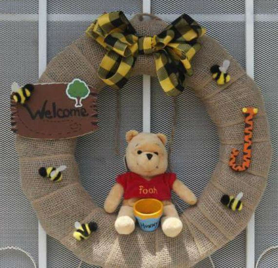 Winnie the Pooh wreath by JdmsCouture on Etsy