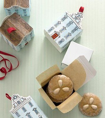 House biscuit boxes -- template included