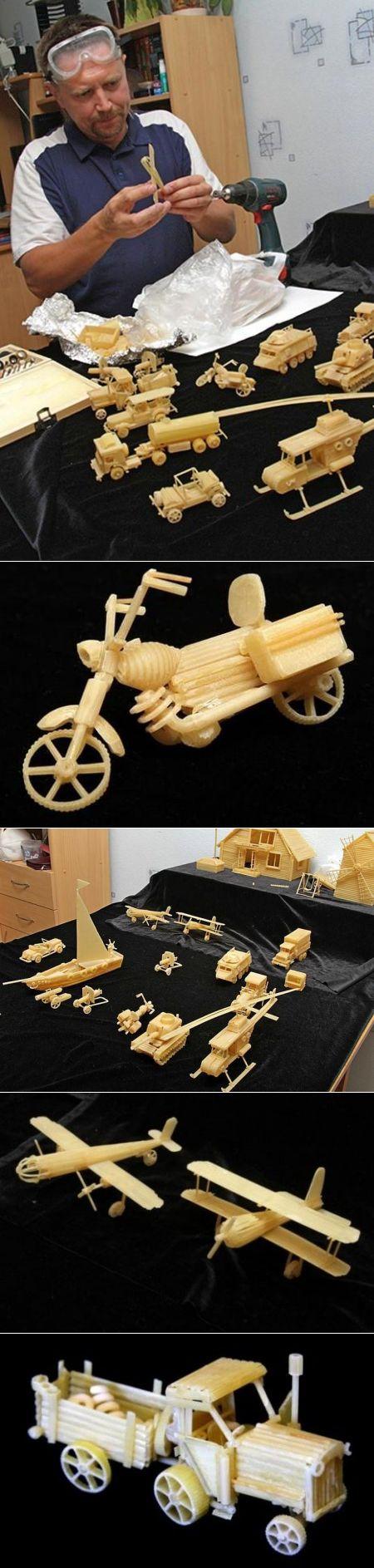 Забавные конструкции из макарон | поделки | Постила