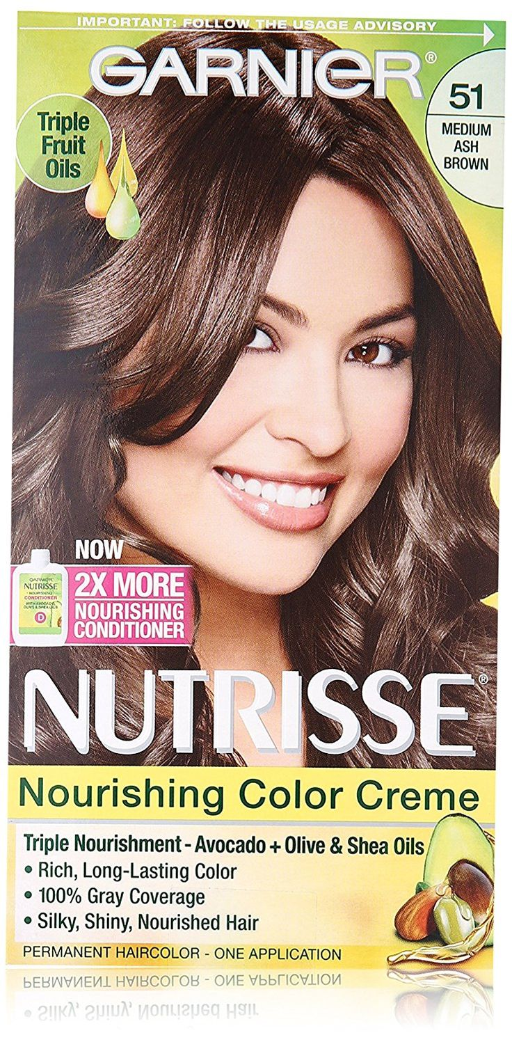 The 25 best garnier hair color brown ideas on pinterest garnier garnier nutrisse nourishing hair color creme 51 medium ash brown cool tea nvjuhfo Image collections