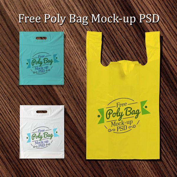 Free Plastic Poly Bag Mockup PSD (7.3 MB) | designbolts.com