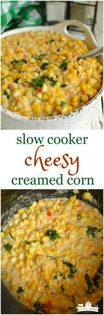 Slow Cooker Cheesy Creamed Corn is fancy enough to serve company and easy enough for weeknights! It always goes fast! Add it to your Holiday menu's!