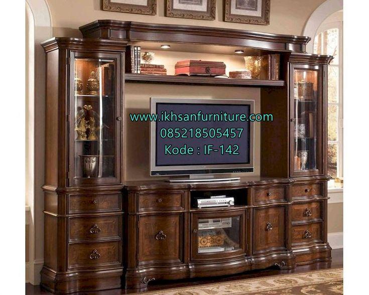 JualLemari Tv Mewah Kayu Jati Model Klasik Modern Lemari Tv Mewah Kayu…