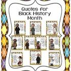 FREE: Mini-posters with motivating and uplifting quotes to display for Black History Month.Thanks for following my little spot on TPT. Come by the blog...