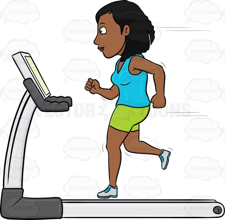 Dark Haired Woman On A Treadmill #activity #adult #adultfemale #cardioworkout #condition #endurance #exercise #female #femaleperson #fitness #fitnessmachine #girl #goodcondition #goodshape #grownup #gymequipment #health #healthy #human #humanbeing #individual #machine #one-person #one-woman #physicalfitness #run #running #shape #shaping #single #sweating #treadmill #woman #workout #vector #clipart #stock
