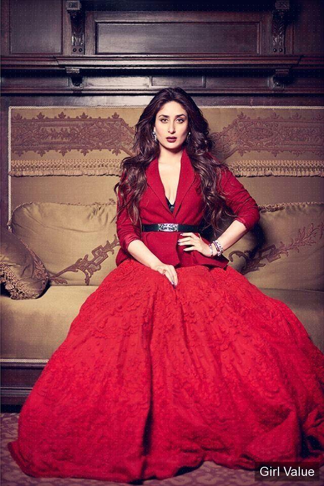 """{""""token"""":""""5235""""} - Kareena Kapoor in red dress"""