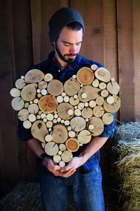 Recyceltes Holz Baum Slice Skulptur gemacht um von WildSliceDesigns